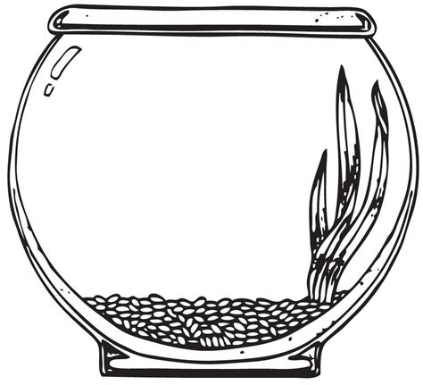 coloring page fish tank fish bowl clipart coloring page pencil and in color fish