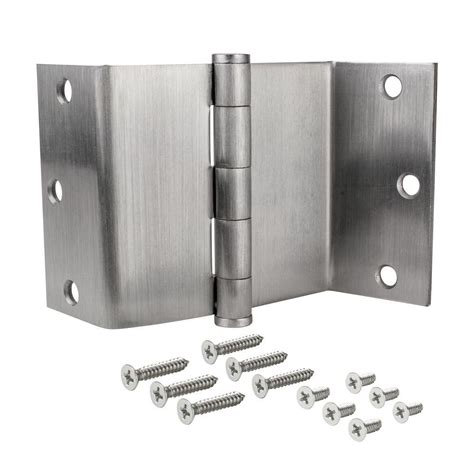 swing clear hinges home depot everbilt 3 1 2 in swing clear door hinge in satin chrome