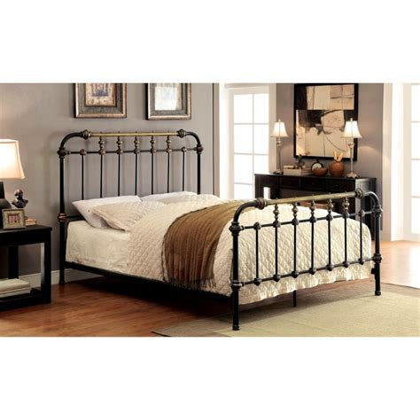 spindle bed king furniture of america cecil california king metal spindle