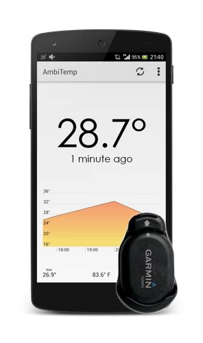 Termometer Mobil ambitemp android app for your garmin tempe