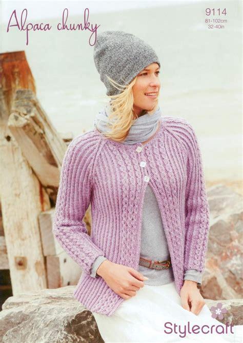 stylecraft knitting patterns to stylecraft 9114 knitting pattern cardigan in alpaca