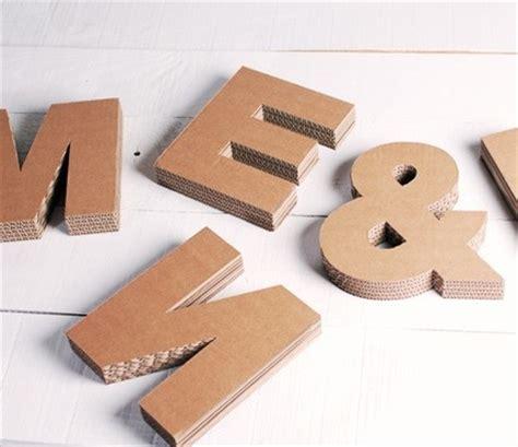 Lettere Di Cartone by Lettere Maiuscole In Cartone Per Decorazioni