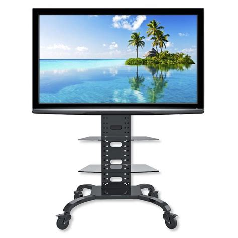 Mensole Led Supporto A Pavimento Con 2 Mensole Trolley Tv Lcd Led