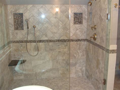 Bathroom Shower Wall Ideas Bathroom Charming Picture Of Bathroom Design And Decoration Using Doorless Shower Design