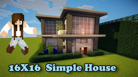 house builder design guide minecraft minecraft simple house 16x16 how to build youtube