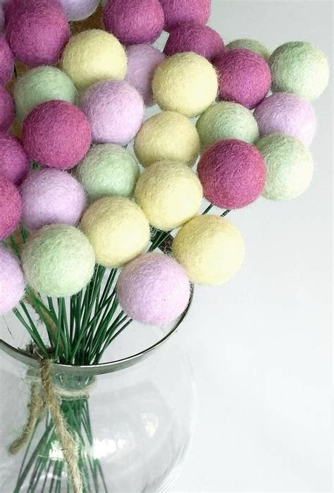 lime green home decor craspedia flowers wool billy button lilac green billy ball flowers billy buttons felt
