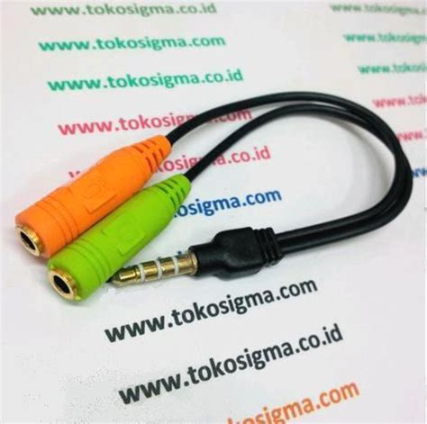 Kabel Audio Hptabletipodmp4mp3 To Speaker External audio jek 3 5mm splitter to mic and headphone toko sigma