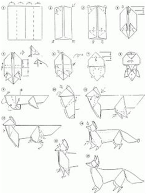 How To Make A Paper Wolf - origami on 52 pins