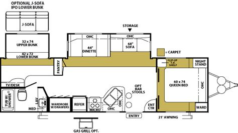 wildwood travel trailer floor plans 2005 forest river wildwood travel trailer rvweb com