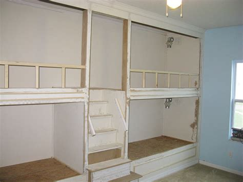 built in bunk beds pdf diy built in wall bunk bed plans download building