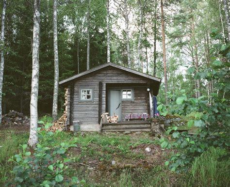lake forest cabin finland log cabin sauna cabinporn