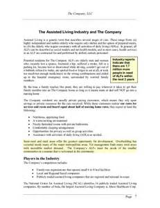assisted living business plan template assisted living business plan dewitt