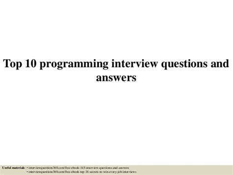 coding best solutions top 10 programming questions and answers