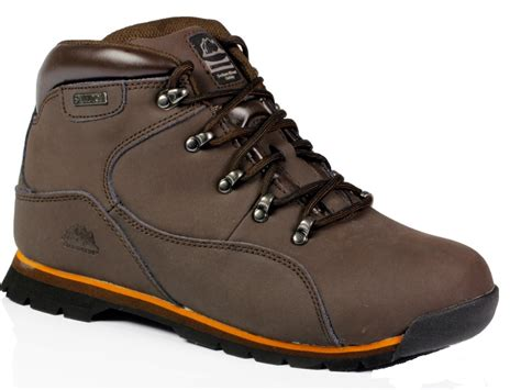 mens safety trainers leather steel toe caps hiking ankle