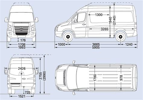 volkswagen crafter dimensions vw crafter cr50 mwb cer interior pinterest