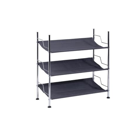 honey can do 3 tier canvas shoe rack black shop your