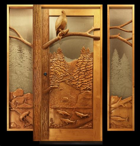 Carved Doors by Eagle Salmon Carved Door