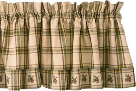 cabin kitchen curtains valance pine cone lodge kitchen window curtain cabin nu
