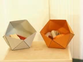 Collapsible Origami Box - papierschachteln basteln and rum