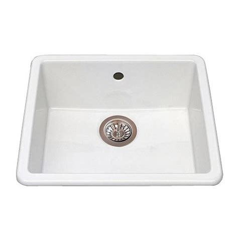 domsjo ceramic white single bowl sink by ikea kitchen