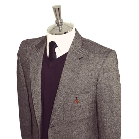 grey blazer grey classic tweed blazer for sale from victor valentine