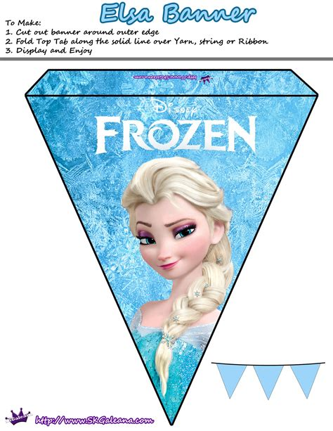 Printable Frozen Banner | free printables for the disney movie frozen skgaleana