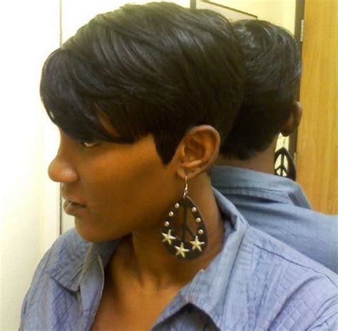 partial short weaves quick weave hairstyles for black women