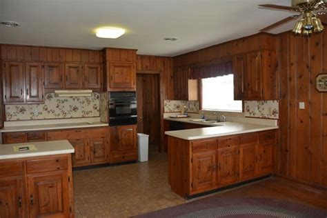 what to do with wood paneling 1951 kitchen with cherry cabinets and wood paneling what