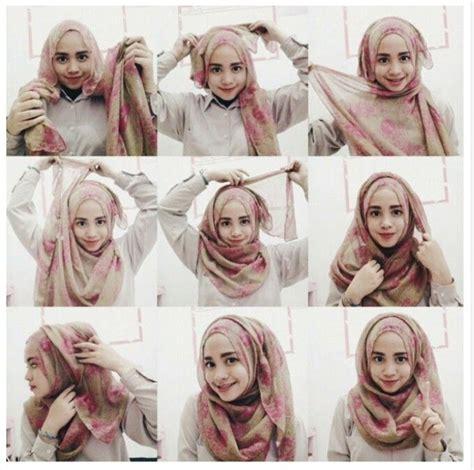 tutorial hijab untuk wajah berkacamata kumpulan tutorial hijab untuk wajah bulat lengkap 2017