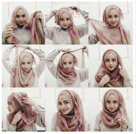 tutorial hijab pashmina untuk wajah bulat berkacamata kumpulan tutorial hijab untuk wajah bulat lengkap 2017