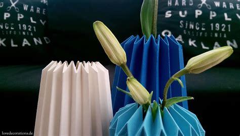 Origami Vases - vase in origami style handmade kultur
