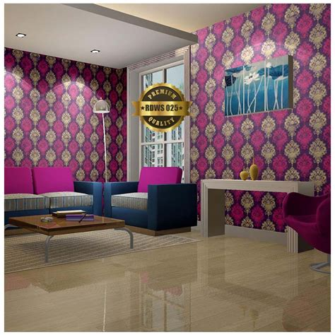 Wallpaper Sticker Dinding Batik Ukir Kembang rd ws 25 wallpaper sticker gold purple batik 1 roll 0 45m x 10m raja dinding