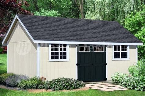 build    gable roof storage shed dg