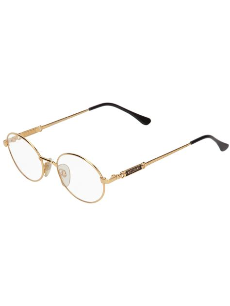 moschino frame glasses in gold lyst