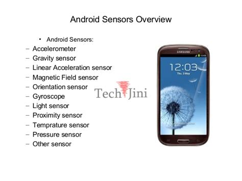 android sensor android sensors