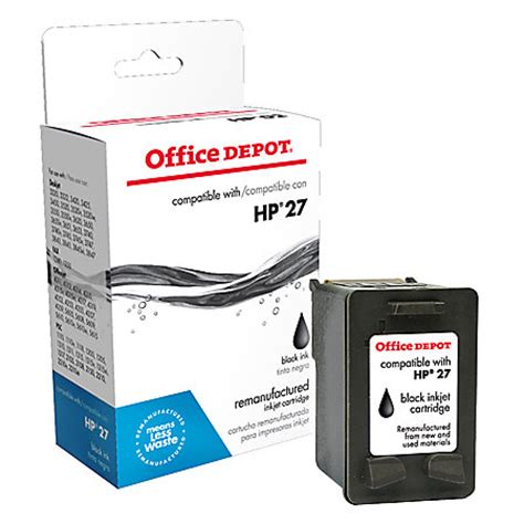 Office Depot Ink Cartridges by Office Depot Brand 27 Hp 27 Remanufactured Black Ink