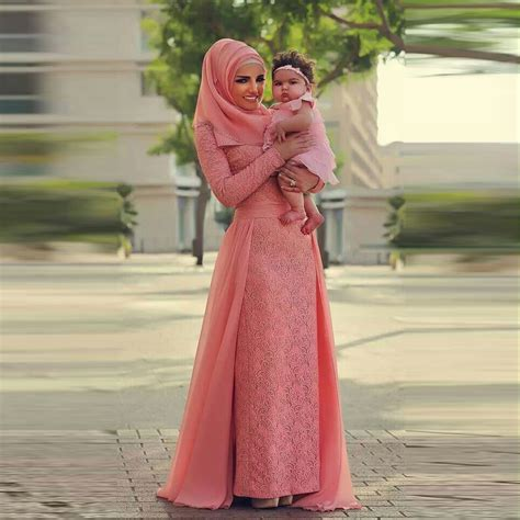 Dress Muslim Black Lace Set aliexpress buy muslim trendy lace evening dress with chiffon court sleeve