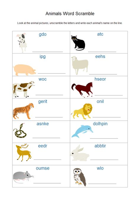 Create Worksheets by Application Of Animal Clipart