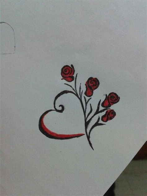 simple love heart tattoo designs simple and black and roses