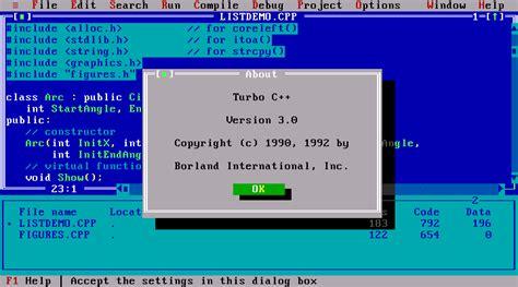 turbo c for windows 8 7 81 vista 32 bit 64 bits turbo c 4 5 for windows 10 7 64 bit c 4 crack