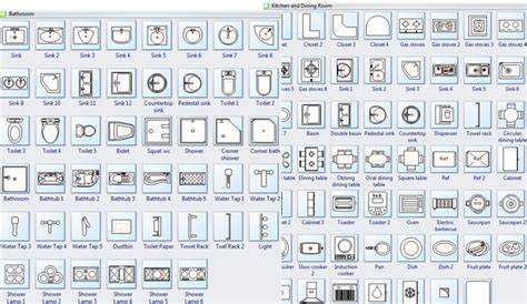 Kitchen And Bath Design Software Free symbols for building plan bath kitchen