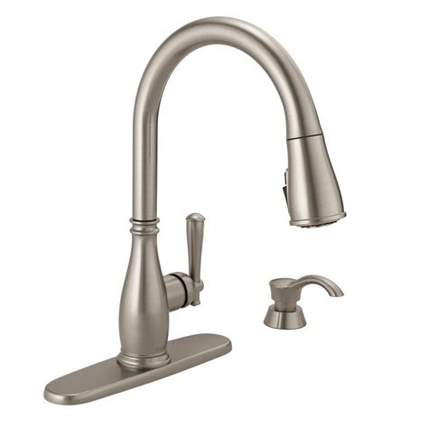 delta single handle kitchen faucet delta charmaine single handle pull sprayer kitchen