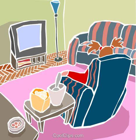Wohnzimmer Clipart by Wohnzimmer Sessel Mit Fernsehen Vektor Clipart Bild