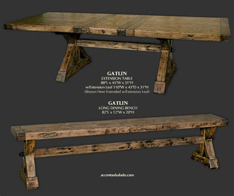 long dining table with bench gatlin long rustic dining table