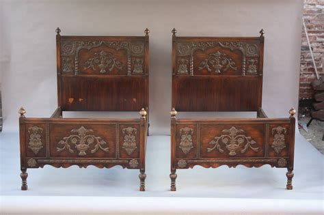 antique pair of spanish revival twin beds at 1stdibs