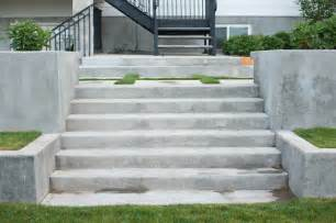 Staircase Wall Sconces Concrete Stairs Traditional Landscape Salt Lake City