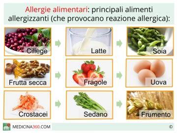 alimenti provocano orticaria allergia