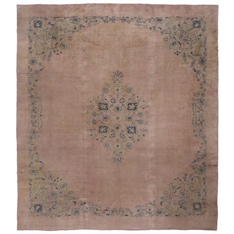 Antique Area Rugs Antique Turkish Oushak Area Rug With Muted Colors Pink And Blue Oushak For Sale At 1stdibs