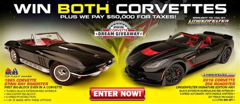 Dream Sweepstakes - win these two special corvettes in the 2016 corvette dream giveaway corvette sales