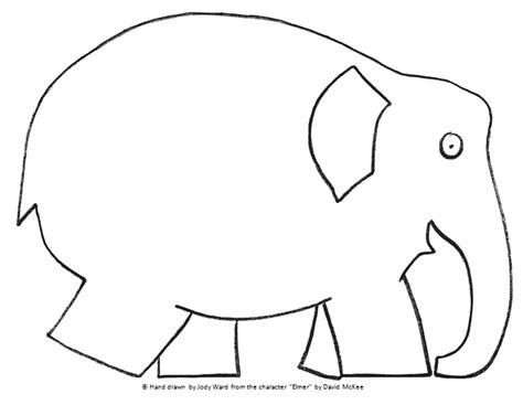 Elmer The Elephant Template by Image Elmer Mrs Ward S Land Of The Learners A